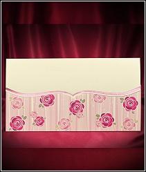 Jednodílné rozkládací svatební oznámení ve tvaru obálky 5477.