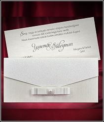 Dvoudílné stříbřitě třpytivé svatební oznámení 5481.