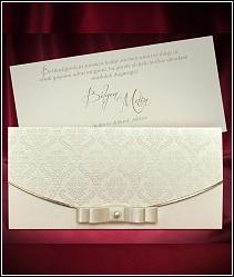 Dvoudílné svatební oznámení se stuhou 5487.