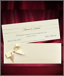 Luxusní vysouvací svatební oznámení s velkou mašlí 5506.
