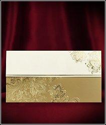 Svatební oznámení zdobené ornamenty vytvořenými zlatou ražbou vzor 5528