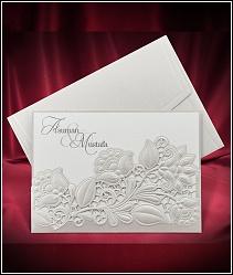 Luxusní dvoudílné zasouvací svatební oznámení z řady Laser-Cut 5529.