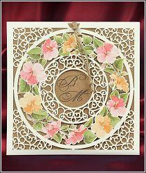 Svatební oznámení s věncem květin 5541.