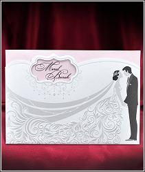 Svatební oznámení s postavami novomanželů 5578.
